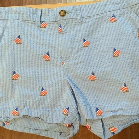 chubbies Pants - Chubbies Shorts Blue Size 12 Nautical Sailboat